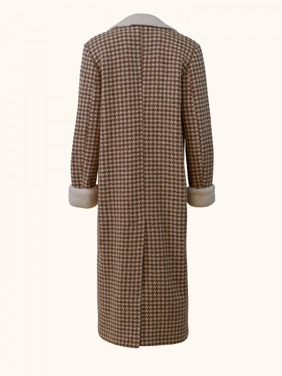 Checked Wool Coat Back